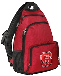 NC State Backpack Cross Body Style Red