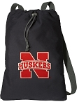 University of Nebraska Cotton Drawstring Bag Backpacks