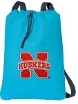 University of Nebraska Cotton Drawstring Bag Backpacks Blue