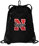 University of Nebraska Drawstring Backpack-MESH & MICROFIBER