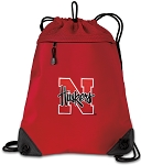 Nebraska Drawstring Backpack MESH & MICROFIBER Red