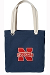 Nebraska Tote Bag RICH COTTON CANVAS Navy