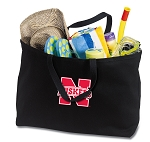 University of Nebraska Jumbo Tote Bag Black