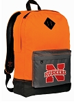 Nebraska Huskers Backpack HI VISIBILITY Orange University of Nebraska CLASSIC STYLE