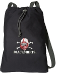 Nebraska Blackshirts Cotton Drawstring Bag Backpacks