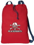 Nebraska Blackshirts Cotton Drawstring Bag Backpacks Cool RED