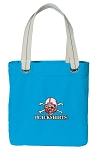 Nebraska Blackshirts Tote Bag RICH COTTON CANVAS Turquoise