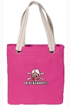 Nebraska Blackshirts Tote Bag RICH COTTON CANVAS Pink