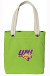 Northern Iowa Tote Bag RICH COTTON CANVAS Green