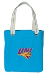 Northern Iowa Tote Bag RICH COTTON CANVAS Turquoise