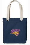 UNI University of Northern Iowa Tote Bag RICH COTTON CANVAS Navy