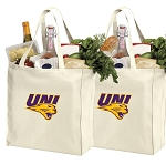 University of Northern Iowa Shopping Bags UNI Panthers Grocery Bags 2 PC SET