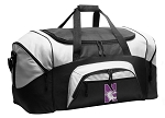 Northwestern University Duffel Bags or Northwestern Wildcats Gym Bags For Men or Women