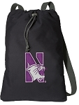 Northwestern University Cotton Drawstring Bag Backpacks