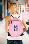 Northwestern University Drawstring Bag Mesh and Microfiber Pink