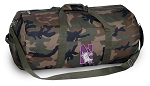 Northwestern University Camo Duffel Bags