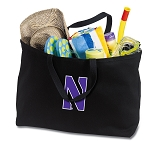 Northwestern University Jumbo Tote Bag Black