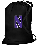 Northwestern University Laundry Bag Black