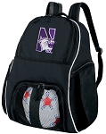 Northwestern University Soccer Backpack or Northwestern Wildcats Volleyball Bag For Boys or Girls