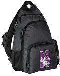 Northwestern University Backpack Cross Body Style Gray