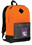Northwestern Wildcats Backpack HI VISIBILITY Orange Northwestern University CLASSIC STYLE
