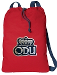 Old Dominion University Cotton Drawstring Bag Backpacks Cool RED