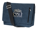 Old Dominion University Messenger Bags STYLISH WASHED COTTON CANVAS Blue