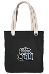 ODU Monarchs Tote Bag RICH COTTON CANVAS Black