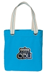 Old Dominion Tote Bag RICH COTTON CANVAS Turquoise
