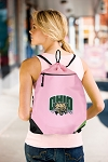 Ohio Bobcats Drawstring Bag Mesh and Microfiber Pink