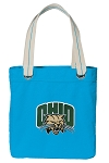 Ohio Bobcats Tote Bag RICH COTTON CANVAS Turquoise