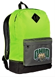 Ohio University Backpack HI VISIBILITY Green Ohio Bobcats CLASSIC STYLE