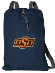 Oklahoma State Cotton Drawstring Bag Backpacks Cool Navy
