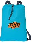 Oklahoma State Cowboys Cotton Drawstring Bag Backpacks Blue