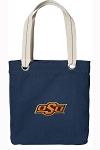 Oklahoma State Tote Bag RICH COTTON CANVAS Navy