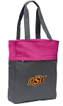 Oklahoma State Cowboys Tote Bag Everyday Carryall Pink