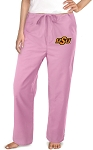 Oklahoma State University Cowboys Pink Scrubs Pants Bottoms