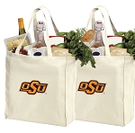 Oklahoma State Shopping Bags OSU Cowboys Grocery Bags 2 PC SET