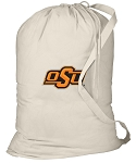 Oklahoma State Cowboys Laundry Bag Natural
