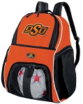 Oklahoma State Cowboys Soccer Ball Backpack Bag Orange