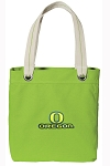 University of Oregon Tote Bag RICH COTTON CANVAS Green