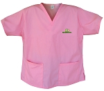 University of Oregon Pink Scrubs Tops SHIRT
