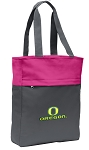 University of Oregon Tote Bag Everyday Carryall Pink
