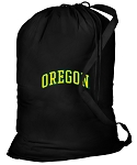 University of Oregon Laundry Bag Black