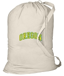 University of Oregon Laundry Bag Natural