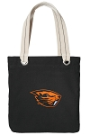 Oregon State University Tote Bag RICH COTTON CANVAS Black