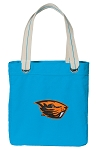 Oregon State Tote Bag RICH COTTON CANVAS Turquoise
