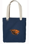 Oregon State Beavers Tote Bag RICH COTTON CANVAS Navy