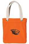 Oregon State Tote Bag RICH COTTON CANVAS Orange