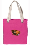 Oregon State Tote Bag RICH COTTON CANVAS Pink